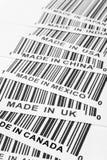 Trade war. Barcode, trade war, business concept Stock Images