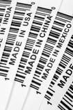 Trade war. Barcode, trade war, business concept Royalty Free Stock Photos