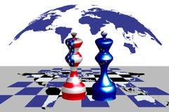 Trade war between USA and EU royalty free illustration