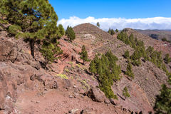Trade winds and huge clouds above La Gomera Royalty Free Stock Images