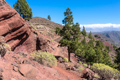 Trade winds and huge clouds above La Gomera Royalty Free Stock Photography