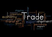 Trade, word cloud concept 8 Stock Photo