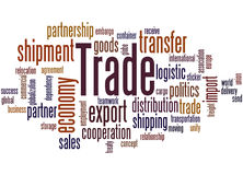 Trade, word cloud concept Royalty Free Stock Images