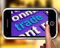Trade In Word Cloud Phone Shows Online Buying And Selling Royalty Free Stock Photography