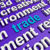 Trade In Word Cloud Shows Online Buying And Selling Royalty Free Stock Photography