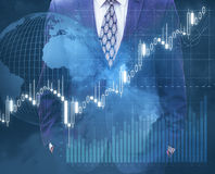 Trade on the world market. Stock Images