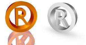 Trademark. Illustration of trademark symbol. 3D trademark symbol render Stock Photos