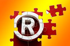 Trademark. R Registered trademark - puzzle incomplete - illustration Stock Images