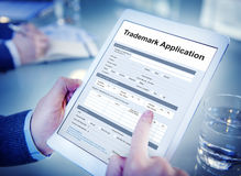 Trademark Application Document Form Concept. People Trademark Application Document Form Royalty Free Stock Image