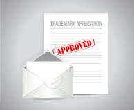 Trademark application papers illustration design Stock Photos