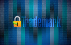 Trademark binary background illustration Stock Photos