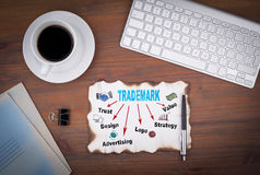 Trademark business concept. Abstract Strategy and Success Background.  royalty free stock photos