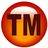 Trademark button or icon. Red trademark or tm web button or icon - illustration Royalty Free Stock Photography