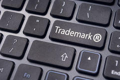 Trademark concepts. Message on keyboard enter key, to illustrate the concepts of trademark royalty free stock photo