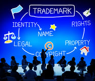Trademark Copyright Identity Branding Product Concept.  royalty free stock photos