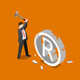 Trademark Copyright infringement fall vector flat 3d isometric Royalty Free Stock Photography