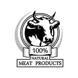 Trademark with a cow head. Royalty Free Stock Photography