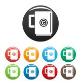 Trademark cup icons set color vector illustration