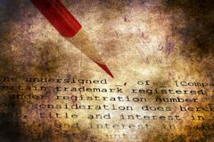 Trademark grunge concept. Close up of Trademark grunge concept royalty free stock photography