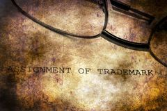 Trademark grunge concept. Close up of Trademark form grunge concept royalty free stock photo
