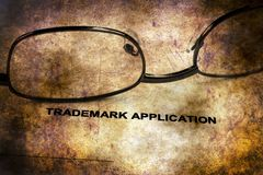 Trademark grunge concept. Close up of Trademark grunge concept royalty free stock images
