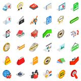 Trademark icons set, isometric style. Trademark icons set. Isometric set of 36 trademark vector icons for web isolated on white background Stock Photography