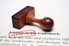 Trademark license Stock Image
