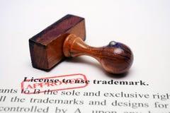 Trademark license. Close up of Trademark license stock image