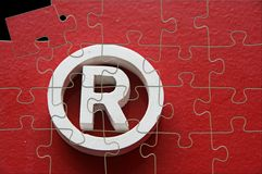 Trademark puzzle royalty free stock photo
