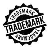 Trademark rubber stamp. Grunge design with dust scratches. Effects can be easily removed for a clean, crisp look. Color is easily changed Stock Photo