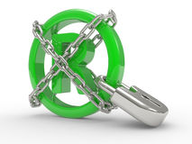 Trademark symbol 3d with chains Stock Image