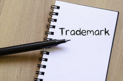 Trademark write on notebook Royalty Free Stock Images