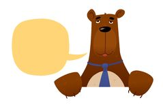 Trader bear character Royalty Free Stock Photography