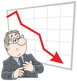 Trader and business recession Stock Image