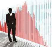 Trader-businessman, vector Royalty Free Stock Photos