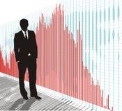 Trader-businessman, vector. Black figure merchant vector illustration Royalty Free Stock Photos