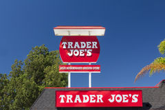 Trader Joe's Exterior and Sign. PASADENA, CA/USA - AUGUST 16, 2014. Trader Joe's vintage exterior and sign. Trader Joe's is an American privately held chain of Stock Images
