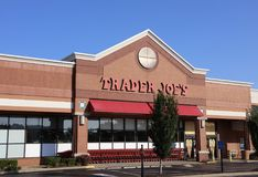 Trader Joe`s Grocery Store. Trader Joe`s is an American chain of grocery stores based in Monrovia, California, owned by a German private equity family trust Stock Image