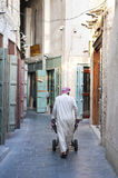 Trader man in doha souk street in qatar Stock Images