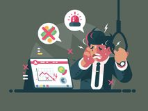 Trader in panic and anxiety Royalty Free Stock Photos