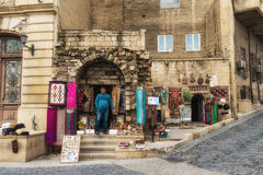 Trader souvenirs in Old city Royalty Free Stock Photos