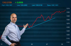 Trader. And Stock market graph stock photography