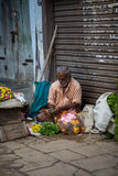 Trader on the street of Indian town Royalty Free Stock Image