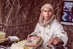 Trader of sweets. Market trader of sweets in North Africa Stock Images