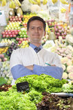 Trader vegetables Royalty Free Stock Image