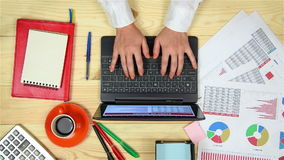Trader Writing Report stock footage