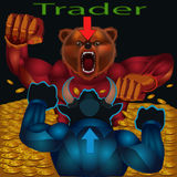 Traders are bulls and bears Royalty Free Stock Images
