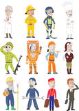 Trades. Representatives of various trades isolated on a white background + vector royalty free illustration