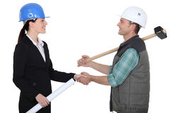 Tradesman and engineer Royalty Free Stock Image