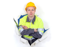 Tradesman with his arms crossed Royalty Free Stock Image